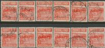 SG 258 ACSC 290e.-290ek. Produce Food - 3½d Butter set of variety singles (AE1/256)